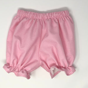 Pink with white polka dot pantaloon bloomers
