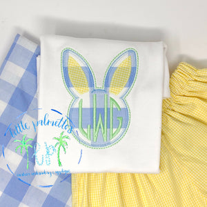 Bunny Head Initials Shirt