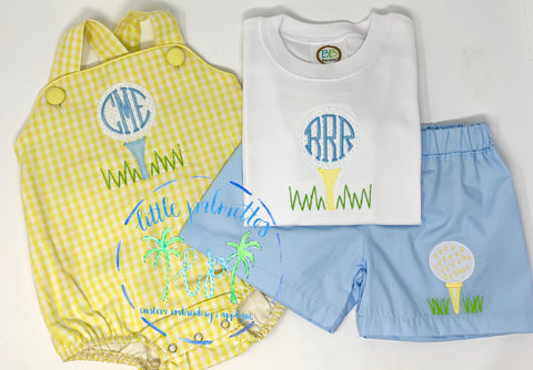 Boys Golf Tee Initial Shirt