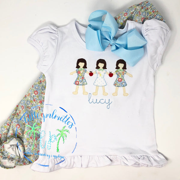 Girl Back To School Paperdoll Shirt