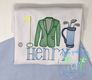 Green Jacket Trio Shirt