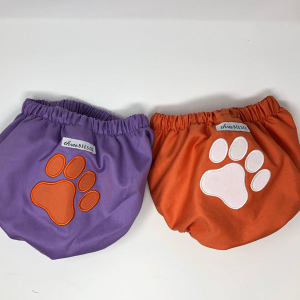 Unisex Pique Diaper Cover with Paw Print