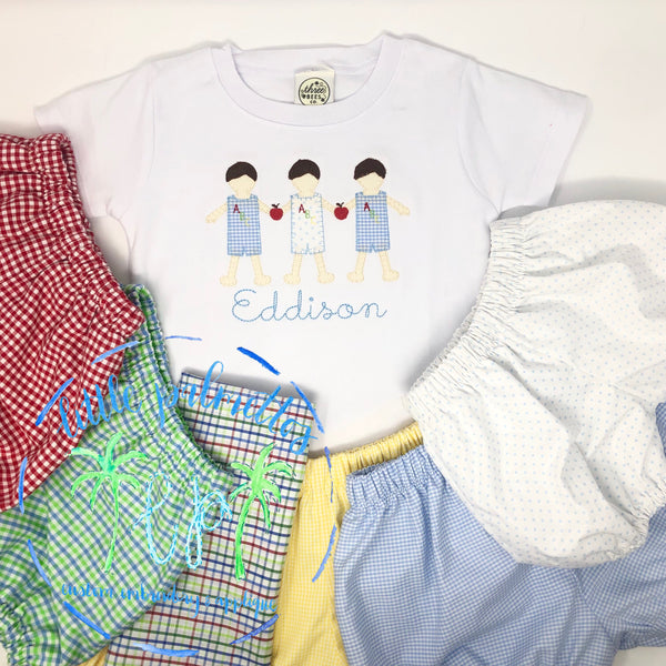 Boy Back to School Paperdoll Shirt