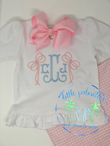 Monogram with Bow Add Ons