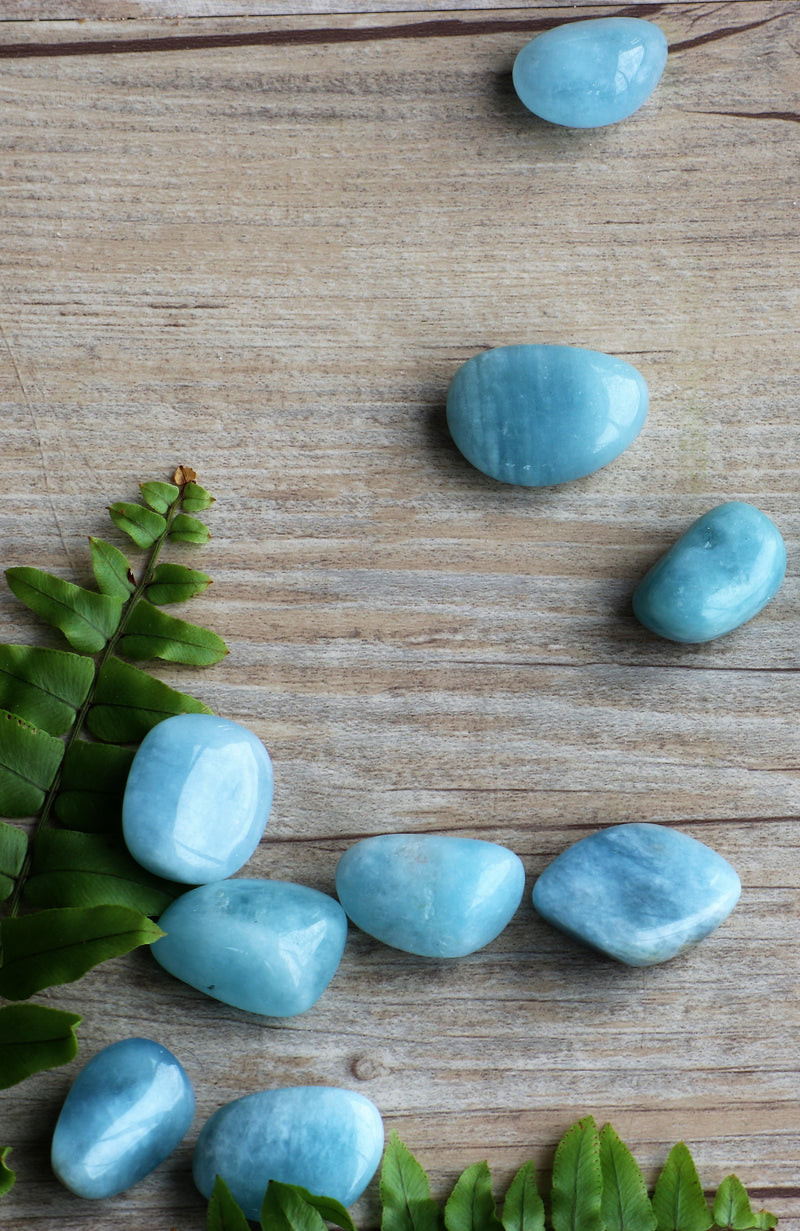 Aquamarine AA Tumbled Stone (Pack of 6)