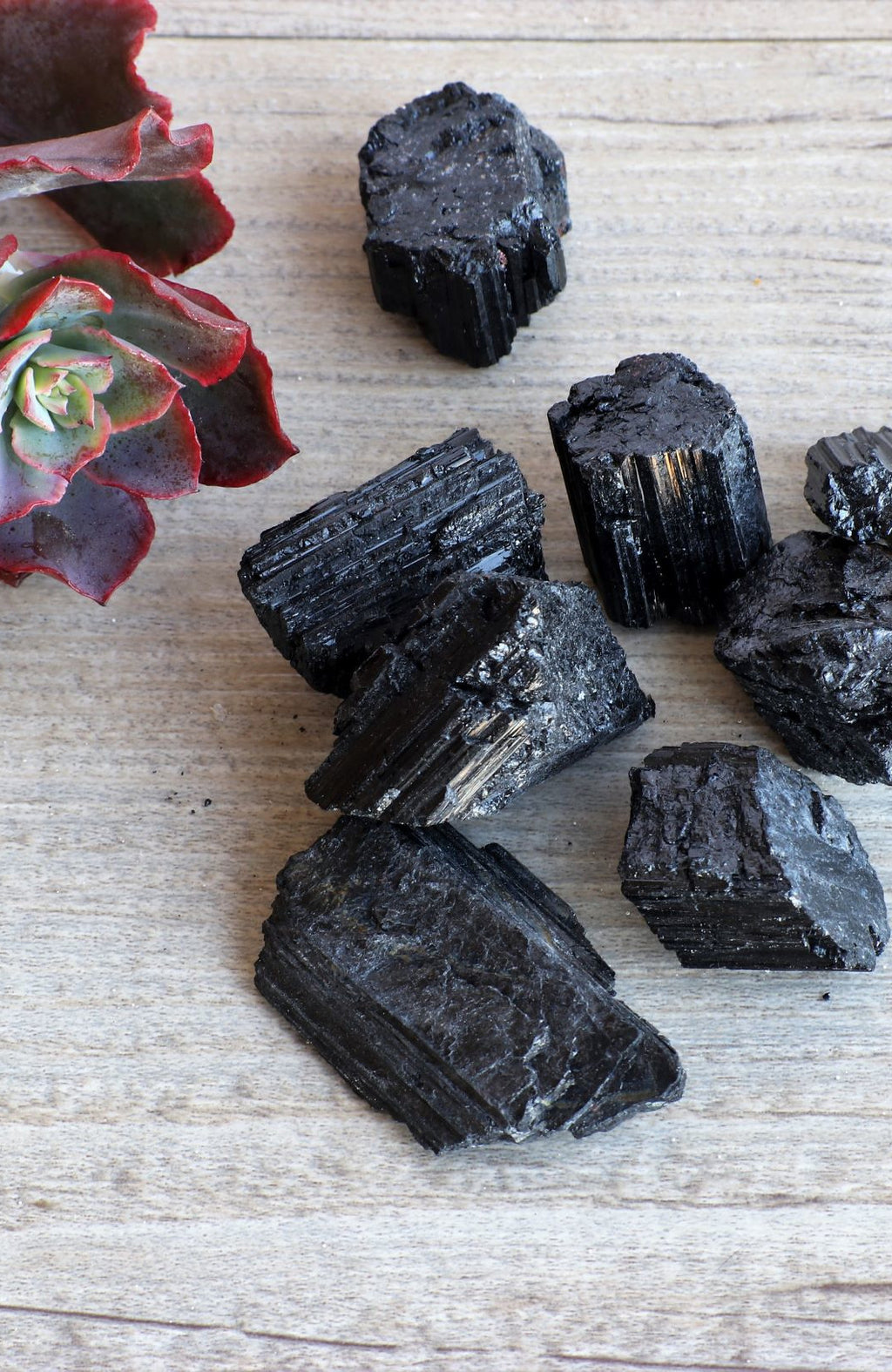 Black Tourmaline Raw (Pack of 6)