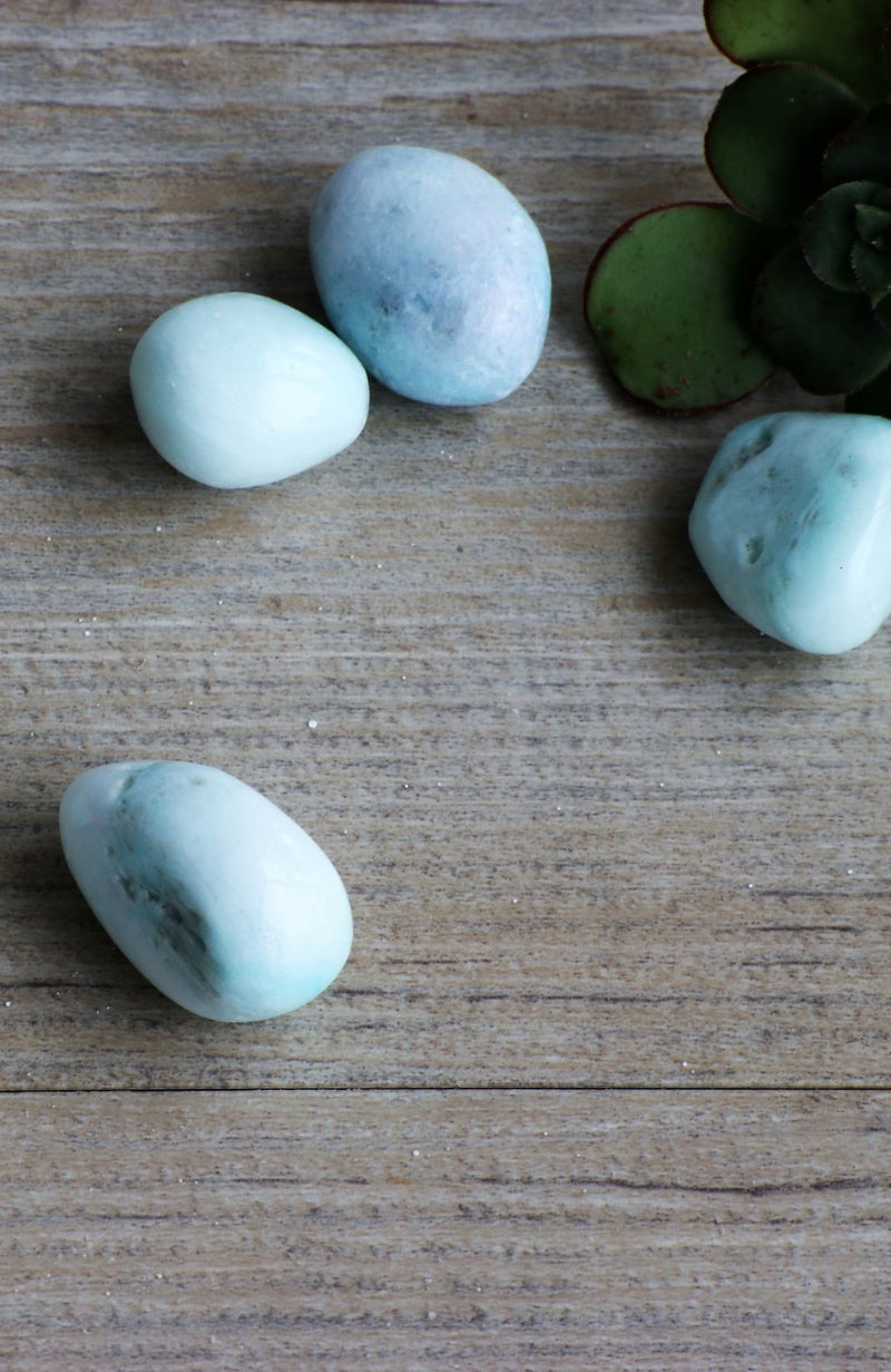 Blue Aragonite Tumbled Stone  (Sm)