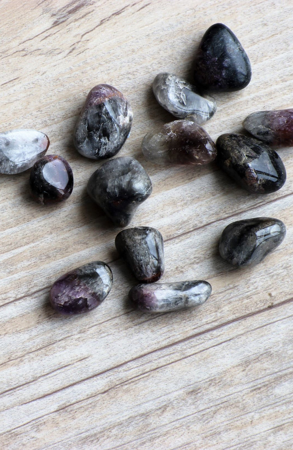 Cacoxenite Amethyst Tumbled Stone (Pack of 6)