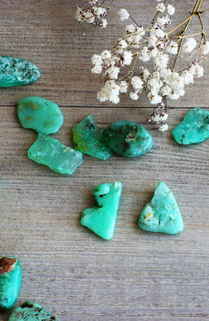 Chrysoprase (Green) Tumbled Stone