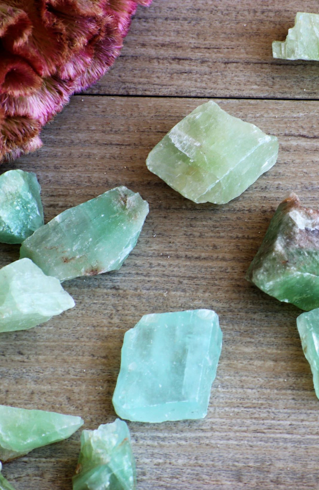 Green Calcite Tumbled Stone