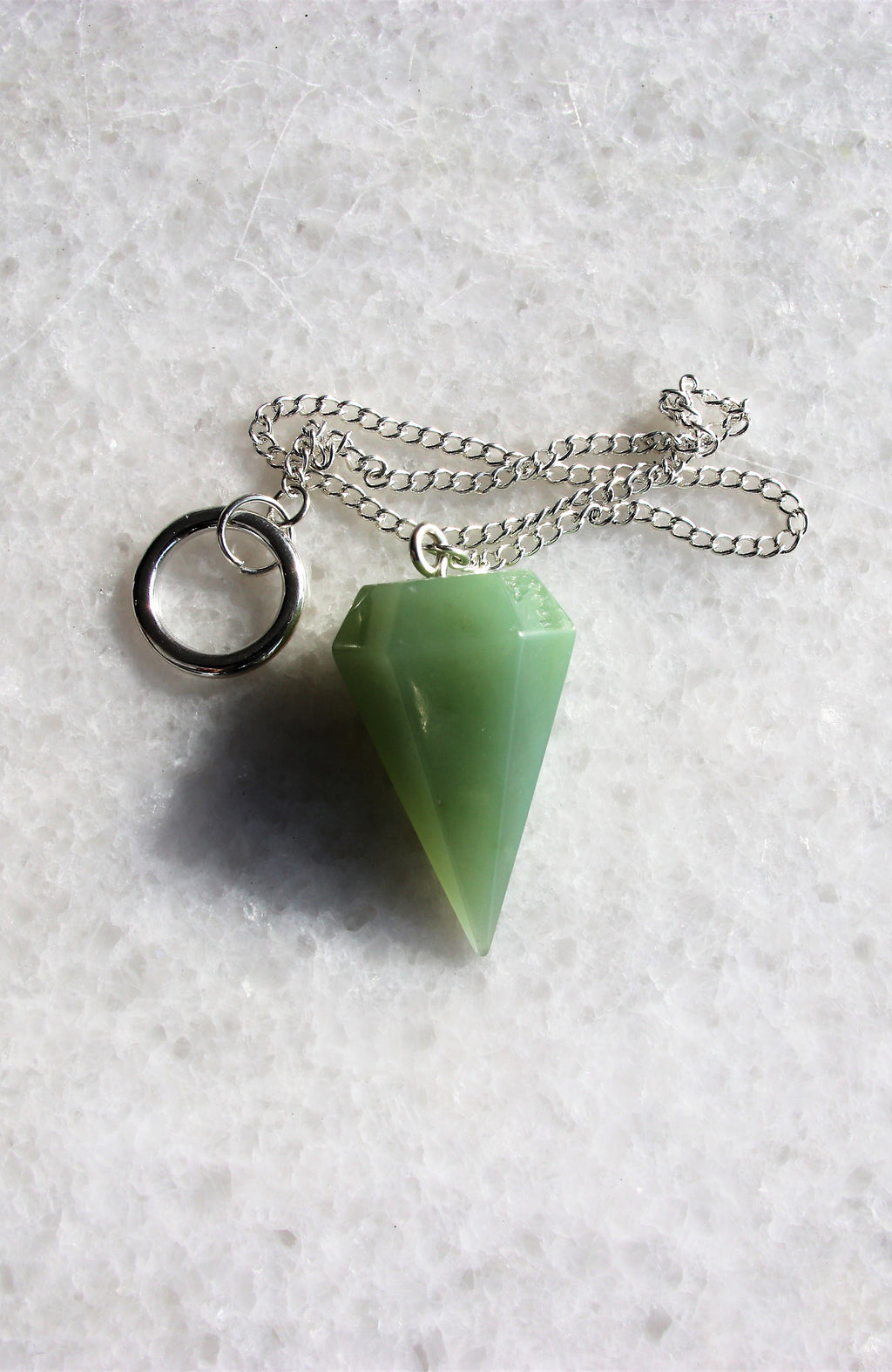 New Jade (Bowenite) Pendulum