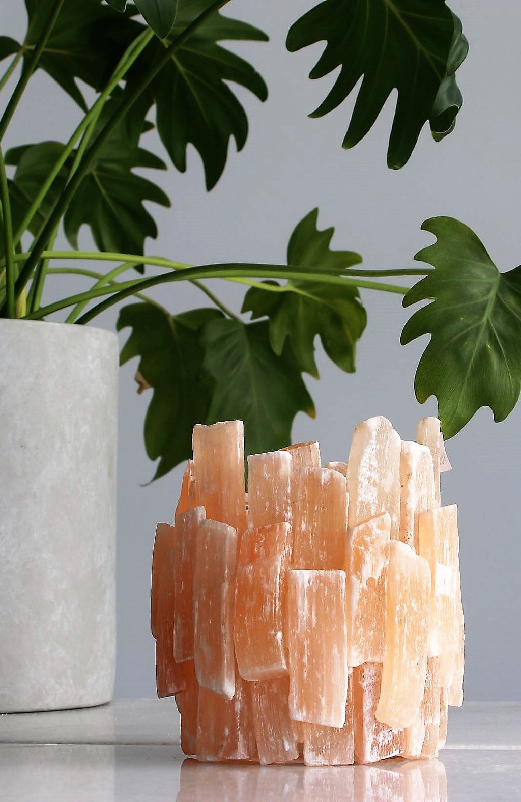Peach Selenite Tealight