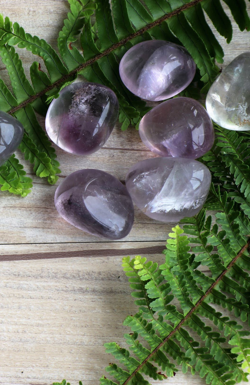 Purple Fluorite Tumbled Stone