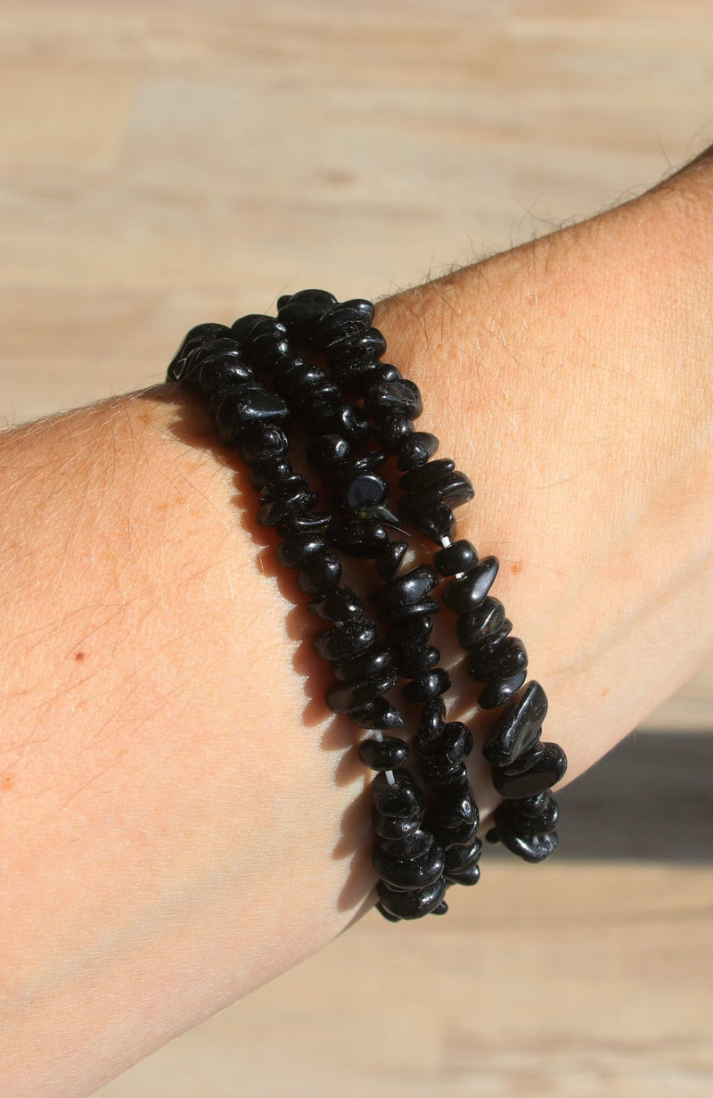 Black Tourmaline AA Chip Bracelet