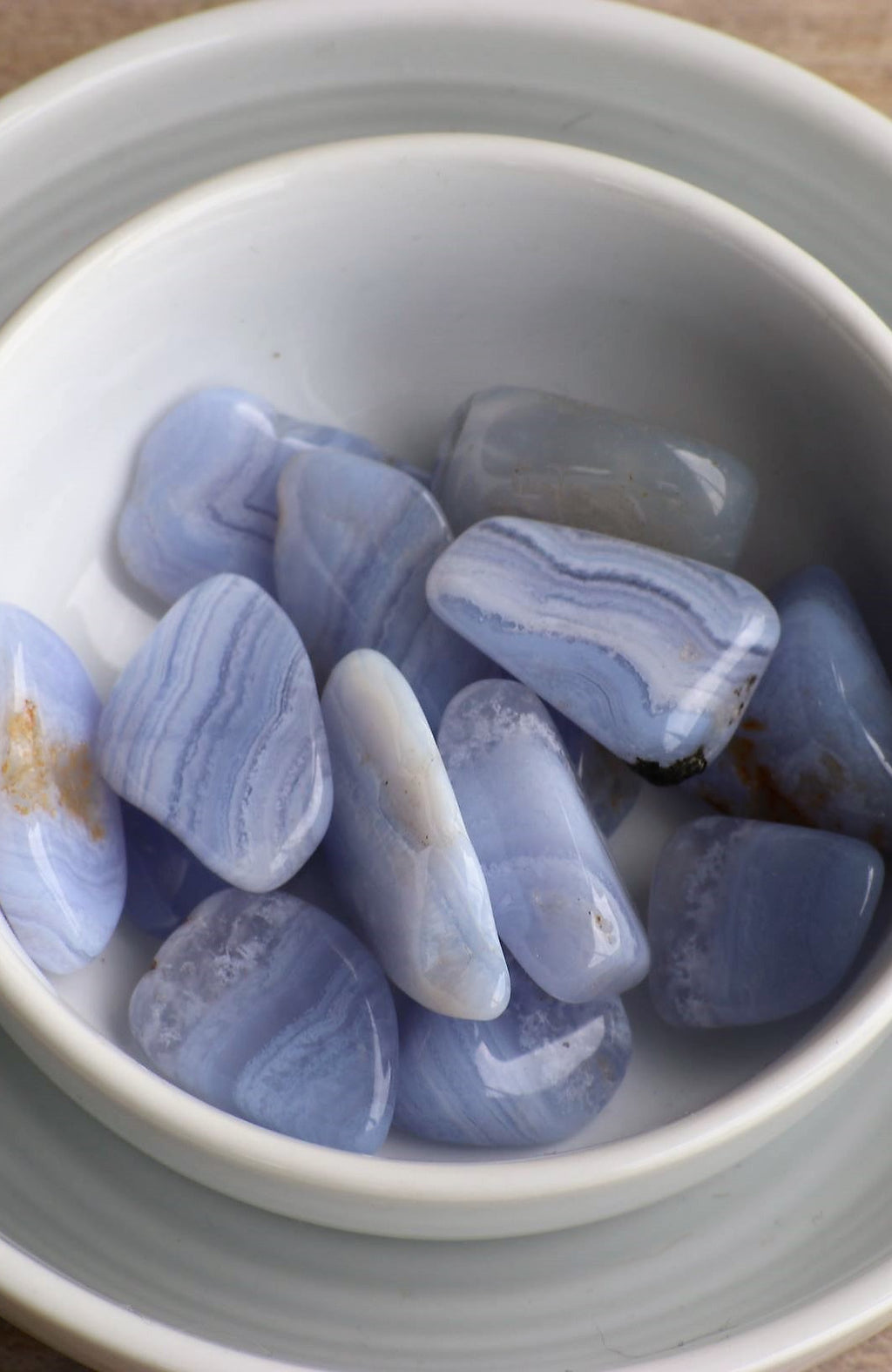 Blue Lace Agate Tumbled Stone (pack of 6)