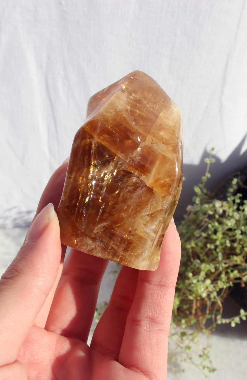 Honey Calcite Flame