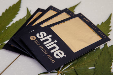 Shine® 1-Sheet Pack King Size 24 Karat Gold Rolling Papers-Higher End Goods