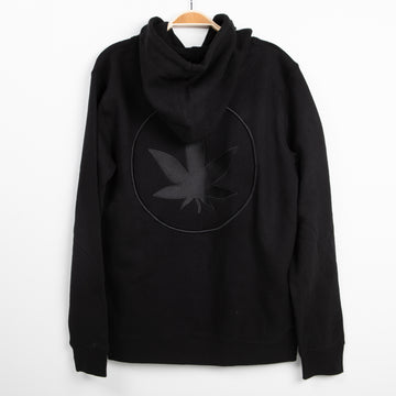 Unisex Embroidered Leaf Zip Up