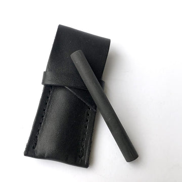 Matte Black One Hitter + Leather Sheath-Higher End Goods