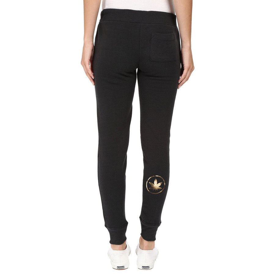 Women's Gold Leaf Sweatpants-Higher End Goods