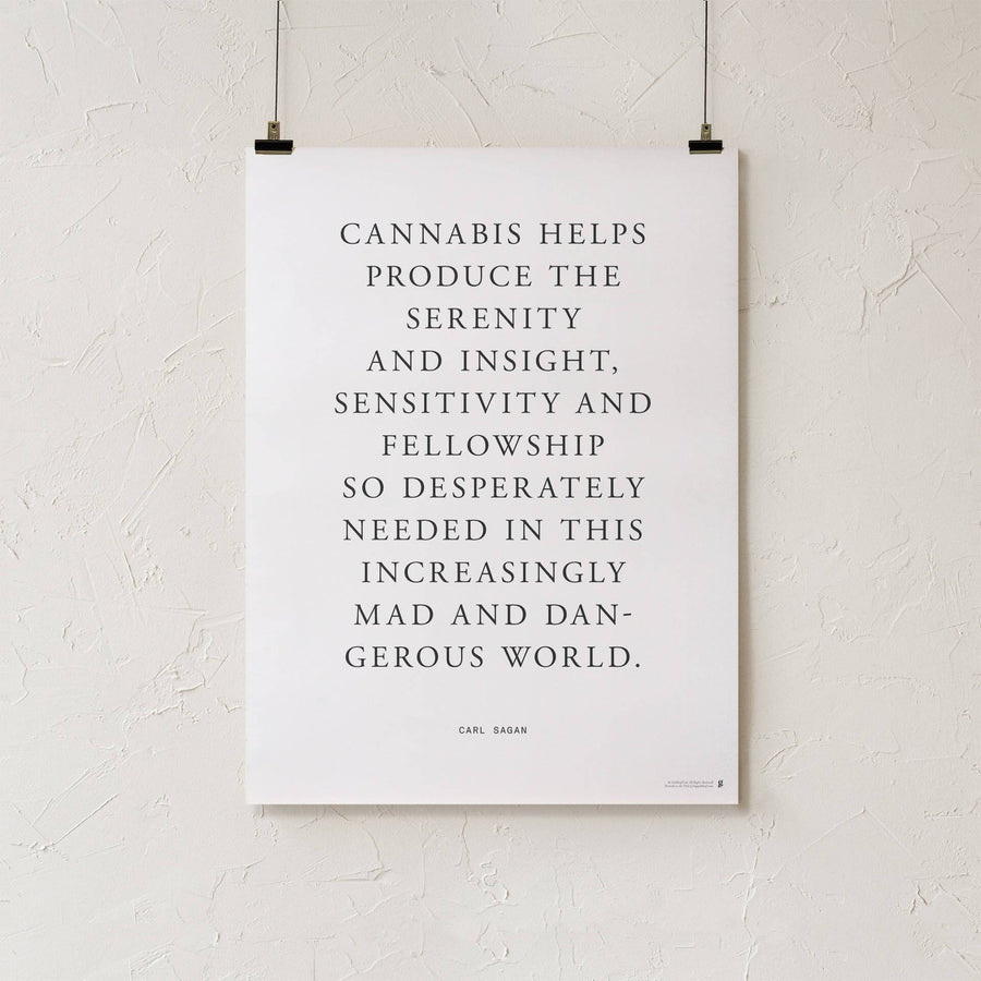 Carl Sagan Cannabis Quote Print-Higher End Goods