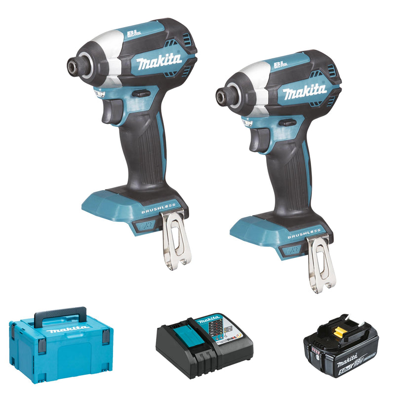 Set Avvitatori Makita DLX2236TJ1 18V 5Ah