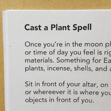 Load image into Gallery viewer, Black text on white page titled: Cast a Plant Spell.