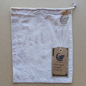 Lavender bulk bag with Coyote Supply Co logo stamped in the top right corner & kraft paper hang tags.