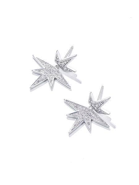 925 Silver Stud,Maple leaf Drop Earrings, Women