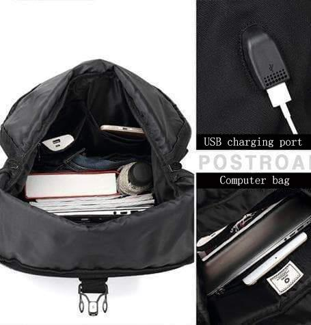 Oxford USB charger backpack