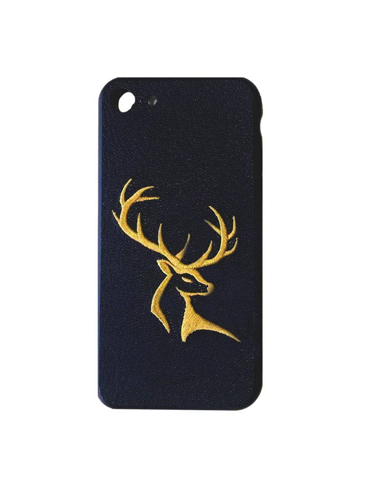 Genuine Leather Embroidery iPhone Case