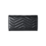 Black long wallet