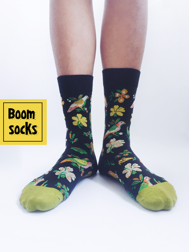 BIRD FLOWER SOCK
