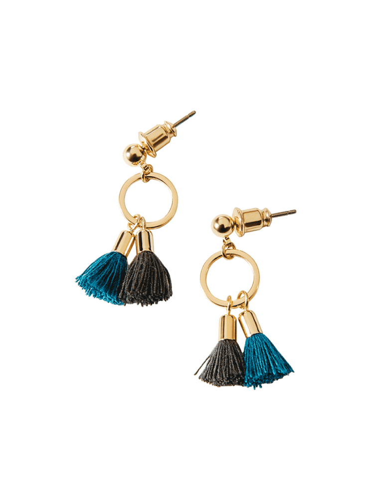 Statement Tassel Drop Earrings, Women