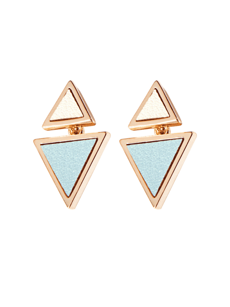 Geometric Triangle Stud Earrings, Women