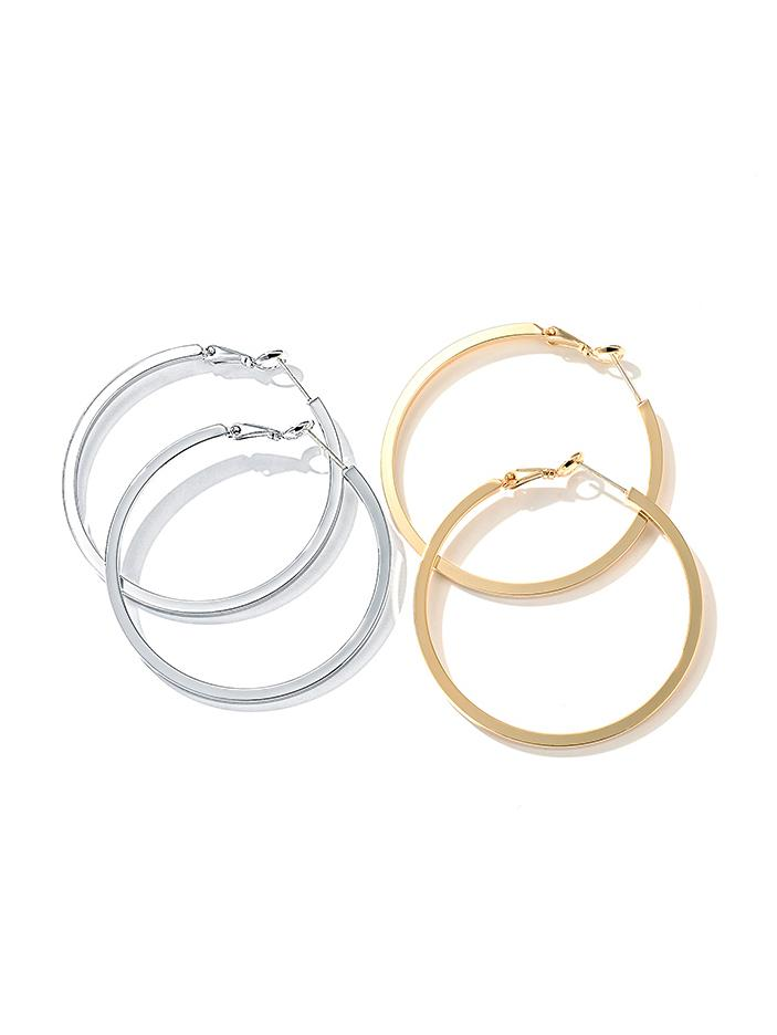 925 Silver Stud, Hoop Earrings, Women