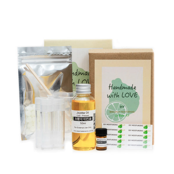 DIY BERGAMOT MOISTURIZING LIP BALM KIT SET