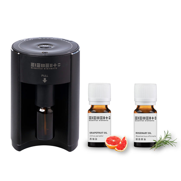 Online Limited - Aroma Nebulizing Diffuser with Essential Oils (Rosemary + Grapefruit)