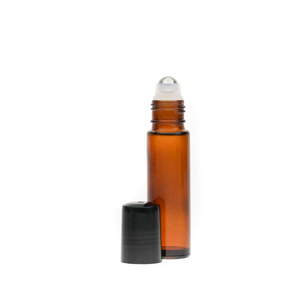 Amber Glass Bottle w/ roll on cap