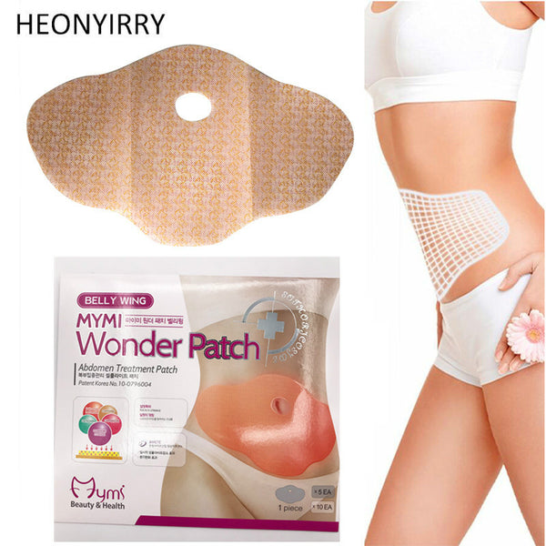 30 Days 10Pc Mymi Wonder Patch Quick Slimming Patch Belly Slim Patch Abdomen Fat burning Navel Stick Slimer Face Lift Tool, Santé, Jvalide