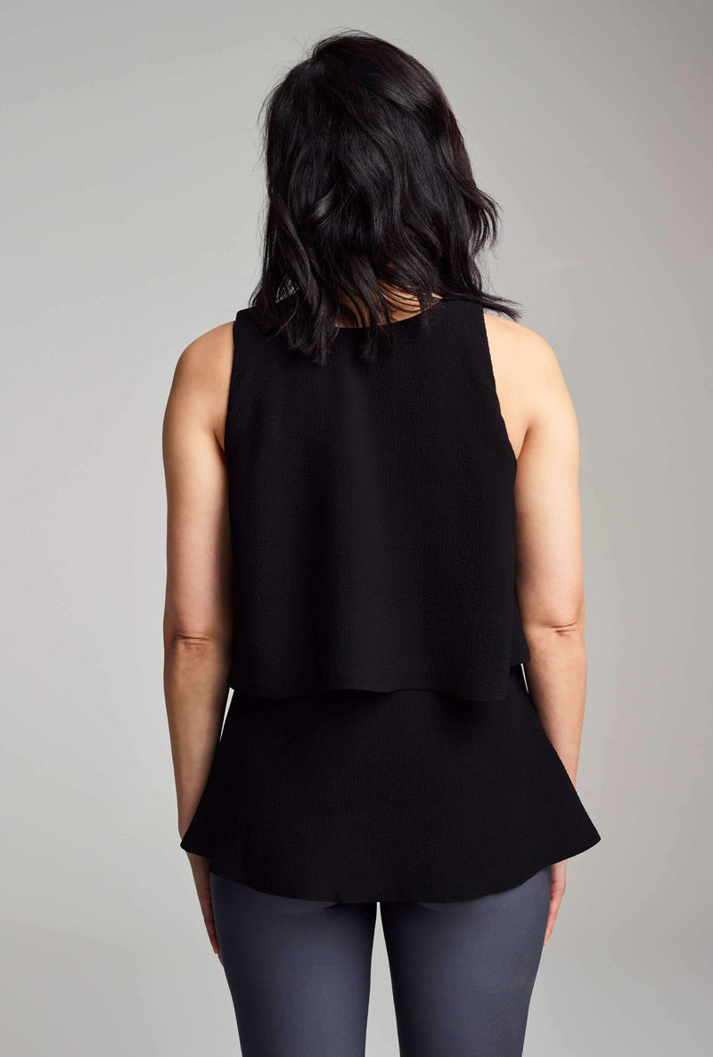 HIDE & PEEK TANK - BLACK - glowe
