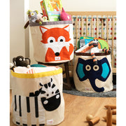 3 SPROUTS TOY STORAGE BIN - ELEPHANT (BLUE)