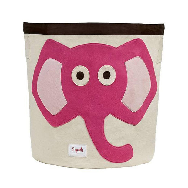 3 SPROUTS TOY STORAGE BIN - ELEPHANT (PINK)