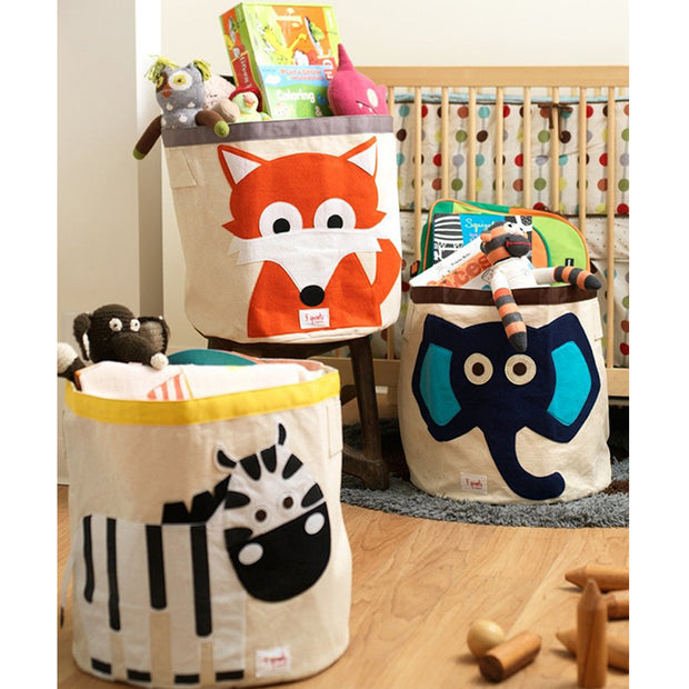 3 SPROUTS TOY STORAGE BIN - ZEBRA