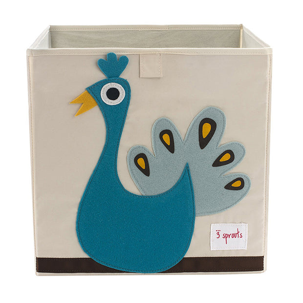 3 SPROUTS TOY STORAGE BOX - PEACOCK