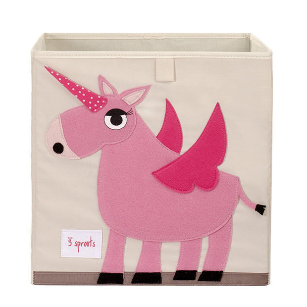 3 Sprouts Toy Storage Box - Unicorn