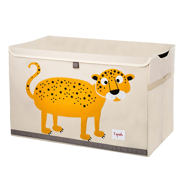 3 Sprouts Large Toy Chest - Leopard