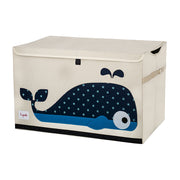 3 SPROUTS LARGE TOY CHEST - WHALE