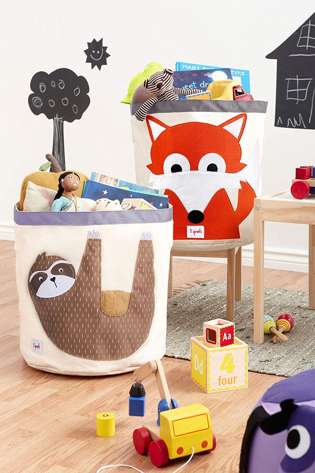 3 SPROUTS TOY STORAGE BIN - SLOTH