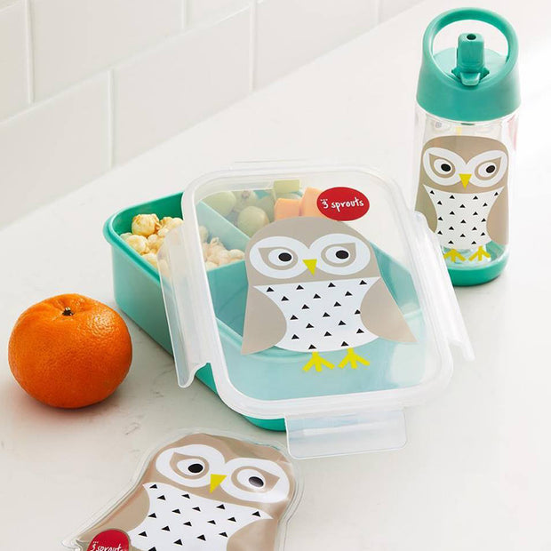 3 SPROUTS BENTO LUNCH BOX - OWL